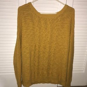 Mustard yellow sweater